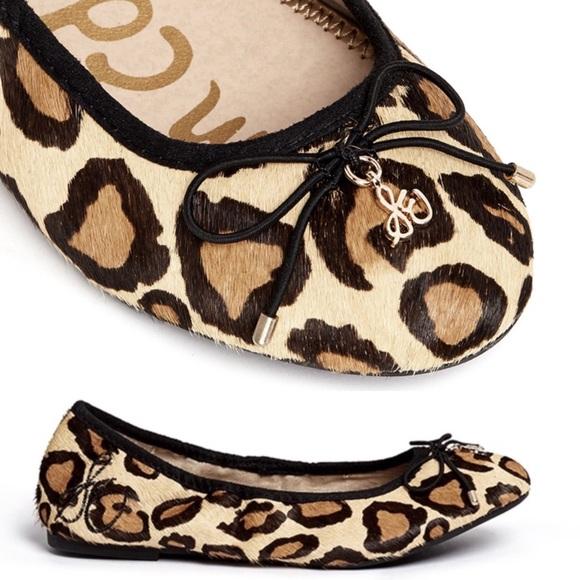 f08d2b9d6f3c37 Sam Edelman Shoes - Sam Edelman Felicia Leopard Print Ballerina Flats